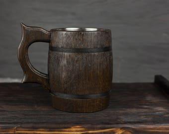 wooden beer mug personalized wood mug groomsman mug gift game of thrones gift handcrafted wooden beer steins viking personalized pottery mug