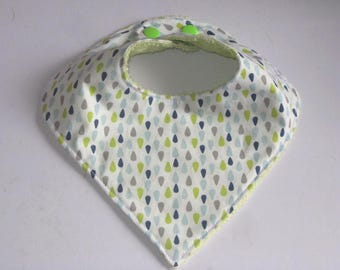 "Bib bandana fabric Scandinavian ""water drops"", birthday gift"