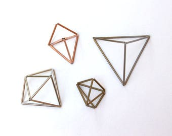 Rustic Wedding Ornaments, Copper Himmeli Decor, Copper, Brass, Silver Plated, Bronze Wedding Decors, Modern Minimalist Himmeli Mobile