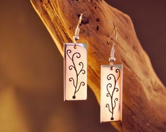 """Earrings original and handcrafted silver 9.25 """"lignas of life"""""""