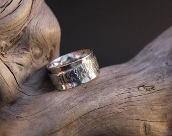 """Original and handcrafted silver ring """"circle overlay"""""""