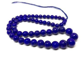 Beautiful Blue Natural Afghan Lapis plain Beads