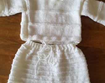 set of bra and shorts size newborn to 1 month