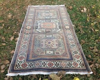 Turkish rug, Vintage rug, Handmade rug, Area rug, Nomadic rug, Wool rug, Bohemian rug, //FREE SHİPPİNG !! 206 cm x 100 cm = 6,7 ft x 3,2 ft