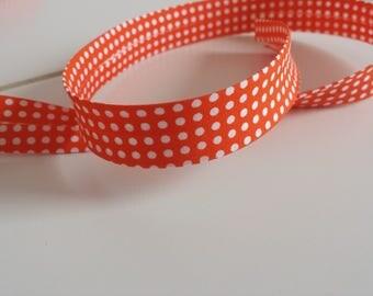 Textile through 20 mm color orange with white dots