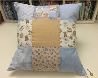 Patchwork baby Blue cushion