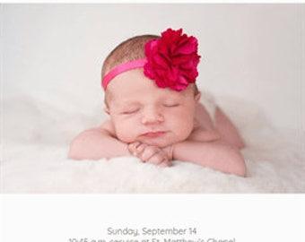 Christening/baptism invites