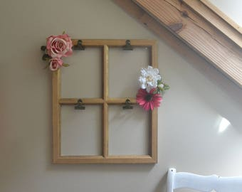 Window Picture Frame with Flowers