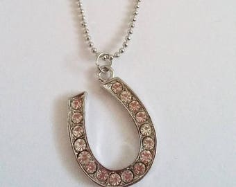 Lucky Horseshoe Gem Necklace
