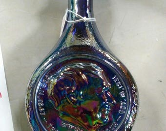 Blue Carnival Thomas Edison Decanter