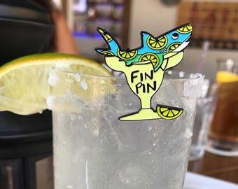 Margarita Shark Enamel Pin, Sharks, Margaritas, Cute