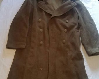 WWII (1942) Army Trench Coat. Very clean was a infantry veterans coat. Size 40 R.
