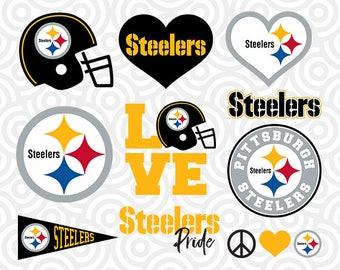 PITTSBURGH STEELERS SVG Set, Pittsburgh Steelers Digital Download Files, Football Logos, Die Cut Files in dxf, png, jpg, eps, pdf, S-19