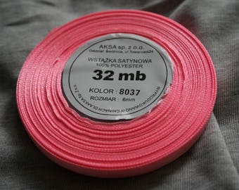 32 meters of Ribbon 6 mm light pink satin