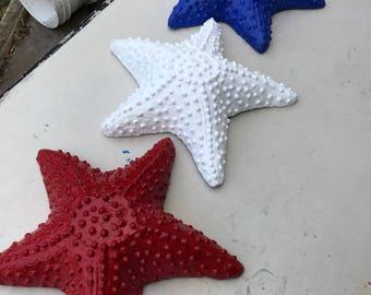 Red, white, blue starfish