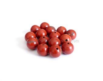 Red Jasper - 6/8 / 10mm - 10 or 100 to choose pearls - pearls gems Semi-precieuses