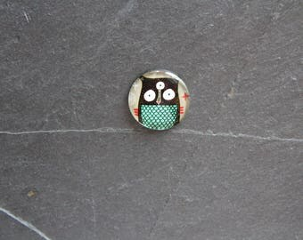 """Owls"" 25 mm glass cabochon"