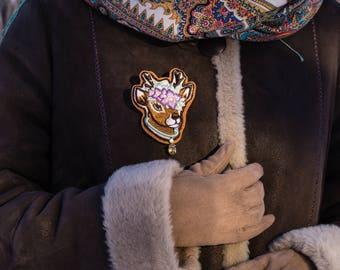 """Exclusive brooch """"Deer"""""""