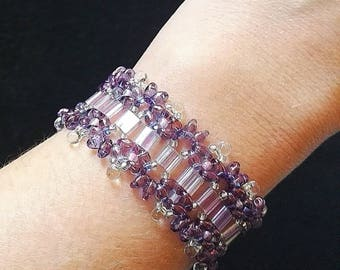 Purple iridescent bracelet