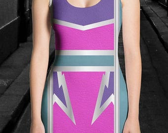 Women's Lightning Bolt Color-Block Dress