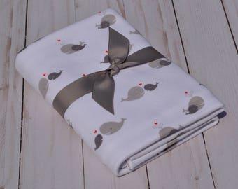 Natural Cotton Baby Blanket, Swaddling Blanket, Baby Blanket, Receiving Baby Blanket
