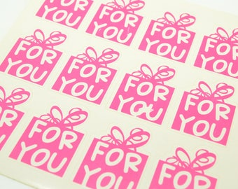 12 labels sticker Christmas birthday gift stickers