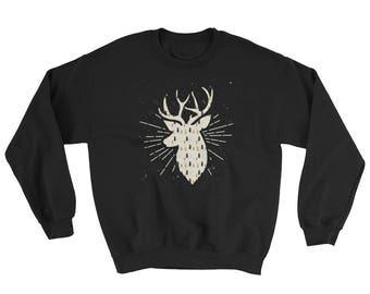 Christmas Reindeer Pattern Shirt Cute Holiday Sweatshirt