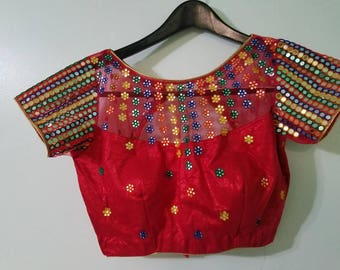Original Mirrorwork handmade blouse .