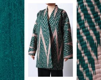 Reversible ikat coat