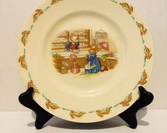 Royal Doulton Bunnykins Mr. Piggly's Store Plate