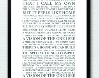 Monster image with a million dreams lyrics printable
