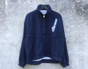 ELLESSE vintage 90s Ellesse Perugia Italia hooded zipper nice spellout size L