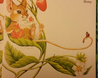 Vintage Stationery Collection ~ Mouse and Strawberry Just a Notes Collection