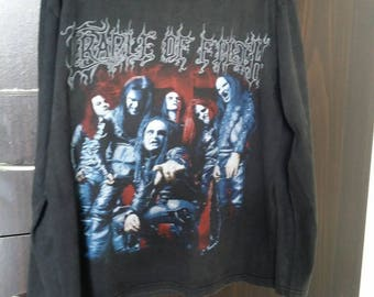 rare Cradle Of Filth Long Sleeve Black T Shirt