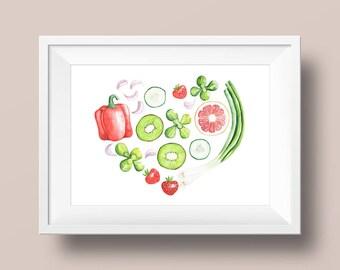 Heart Paprika Kiwi-A3