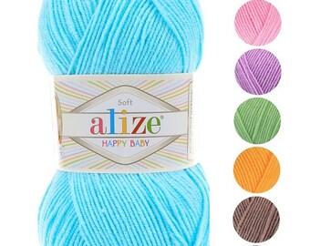 Yarn Alize Happy Baby yarn children yarn baby yarn soft yarn gentle yarn аnti-pilling yarn аnti-pilling acrylic yarn novelty yarn baby soft