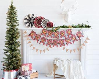 Plaid Merry Christmas Banner