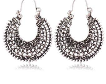 Ethnic hoops earrings