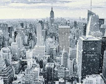 New York City Art, NYC Canvas, Cityscape Skyline, Manhattan Photography