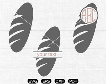 Bread Svg, Bread Clipart, Monogram Frame cricut, cameo, silhouette cut files commercial & personal use