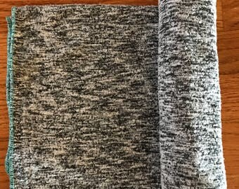 Gray Knit Swaddle