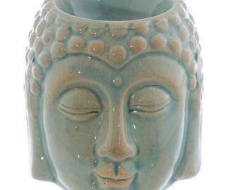 Oil burner ceramic blue Buddha head