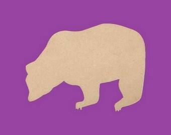 Stand to decorate medium MDF bears fleece