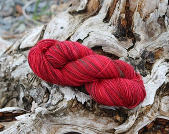 High bush Cranberry - Part of the Alaskan Color way, hand painted yarns inspired by the magic of Alaska