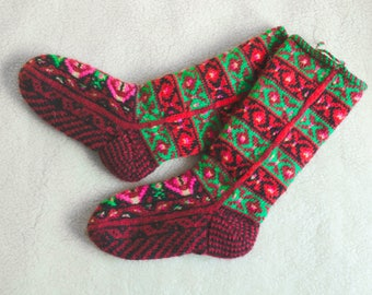 Knitted ethnic socks