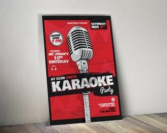 Karaoke Birthday Invitation
