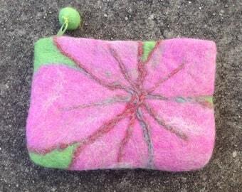 Pink Flower coin purse