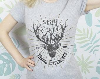Deer Shirt sayings Shirt for women Shirt girls Tops Shirt men Tshirt for women Tshirt design Tshirt Shirt XS shirt Boho clothing EDS_009