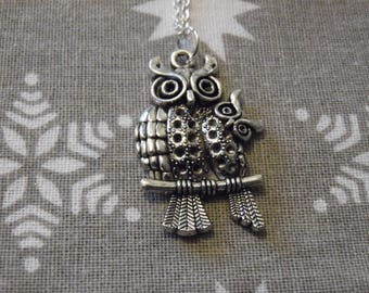 Mother & Baby Owl Necklace/Planner Charm