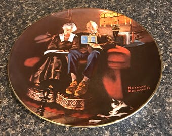 "Norman Rockwell ""Evening's Ease"" Display Plate"
